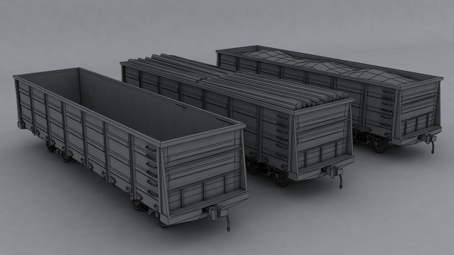 Tren de carga royalty-free modelo 3d - Preview no. 9