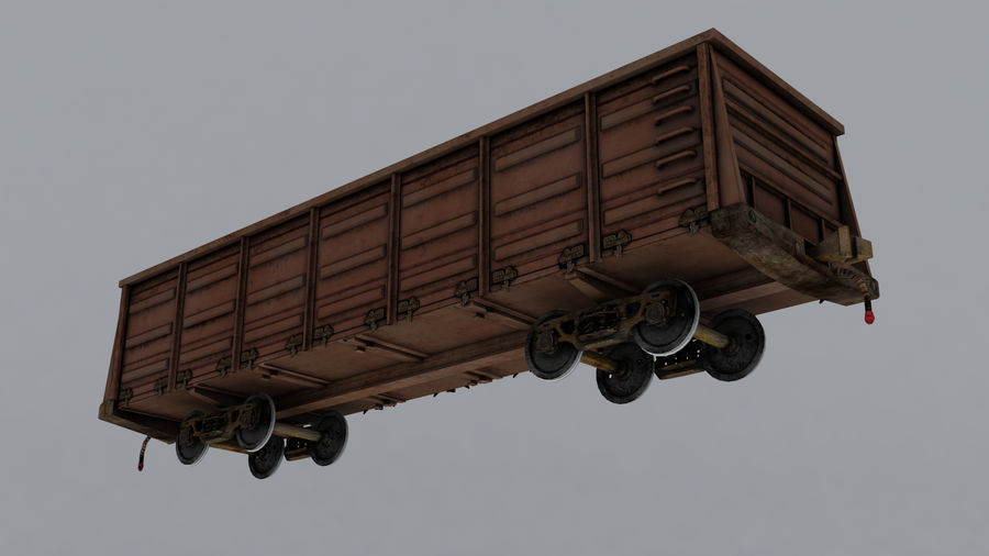 貨物列車 royalty-free 3d model - Preview no. 4