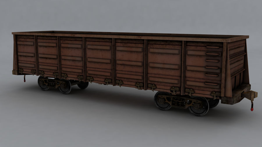 貨物列車 royalty-free 3d model - Preview no. 1