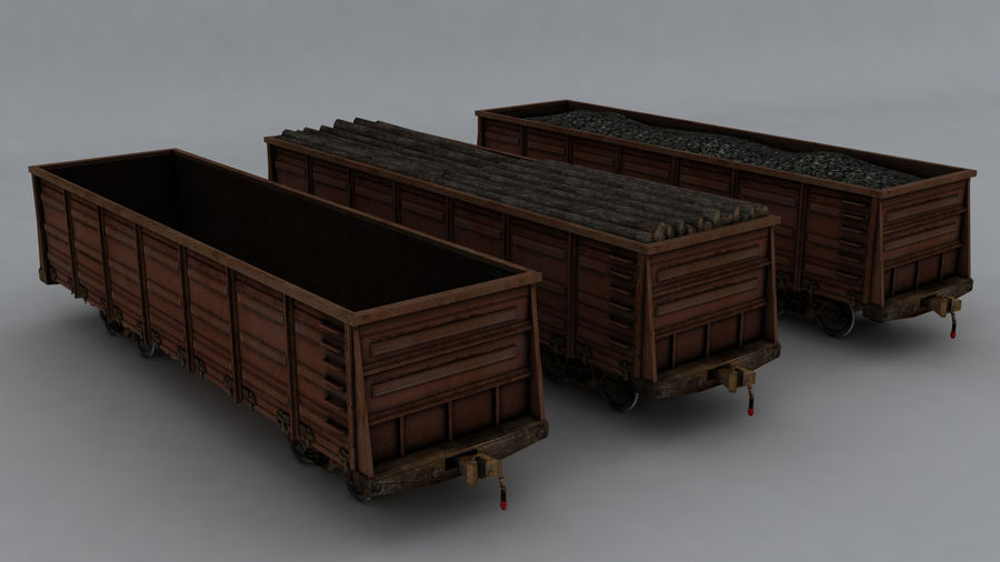 貨物列車 royalty-free 3d model - Preview no. 8