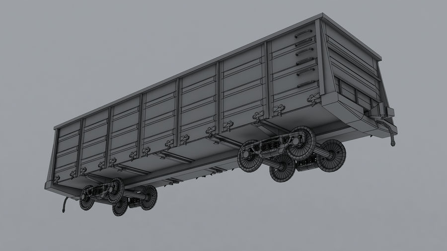 貨物列車 royalty-free 3d model - Preview no. 5