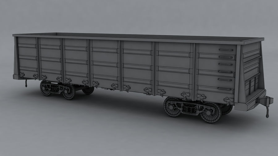 貨物列車 royalty-free 3d model - Preview no. 2