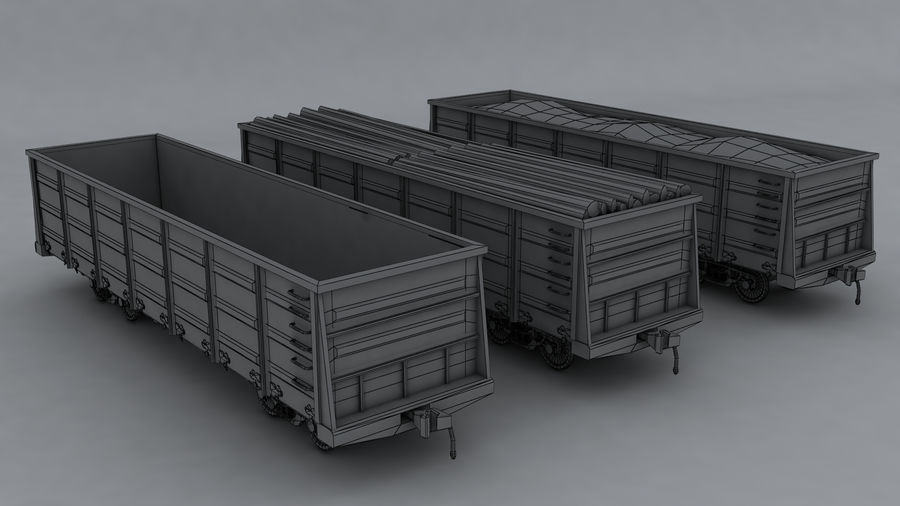 貨物列車 royalty-free 3d model - Preview no. 9
