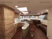 Board interieur 3d model