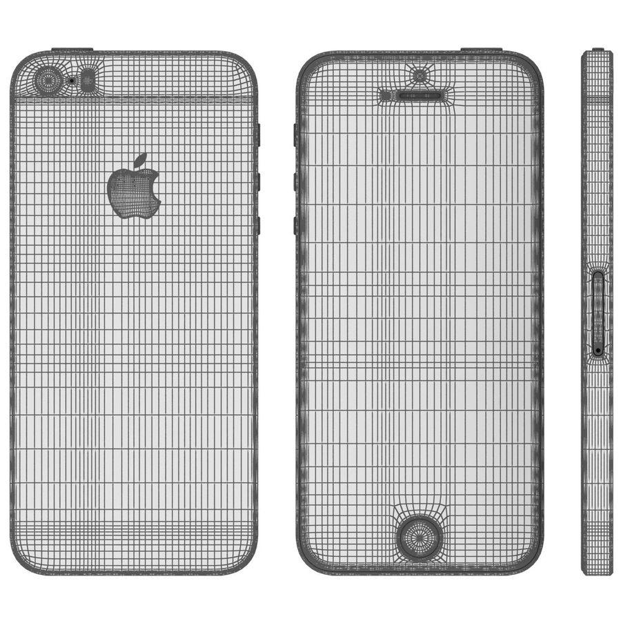 Apple iPhone SE Cinza Espaço royalty-free 3d model - Preview no. 30