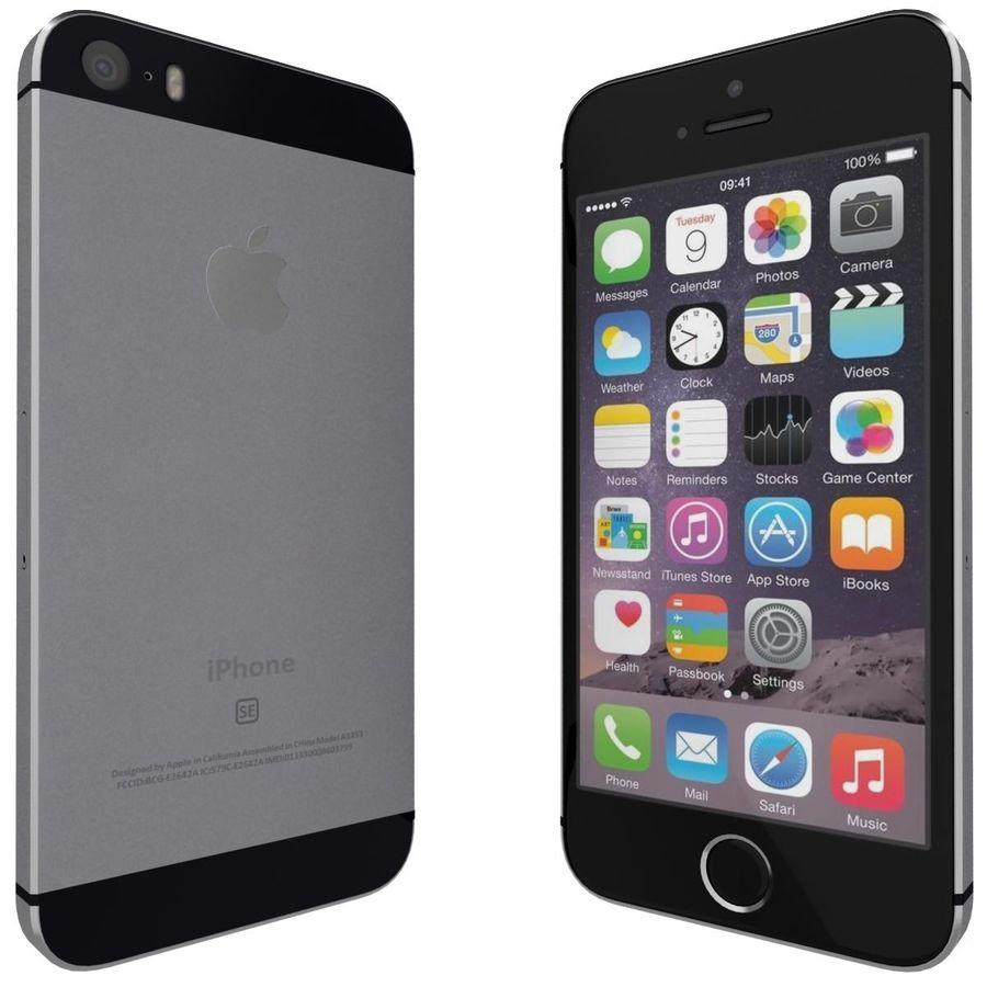 Apple iPhone SE Cinza Espaço royalty-free 3d model - Preview no. 4