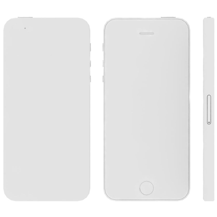 Apple iPhone SE Cinza Espaço royalty-free 3d model - Preview no. 29