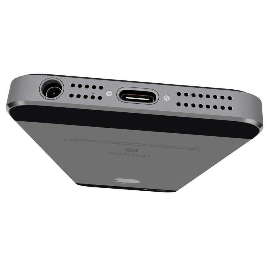 Apple iPhone SE Cinza Espaço royalty-free 3d model - Preview no. 14