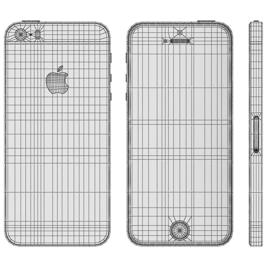 Apple iPhone SE Cinza Espaço royalty-free 3d model - Preview no. 28