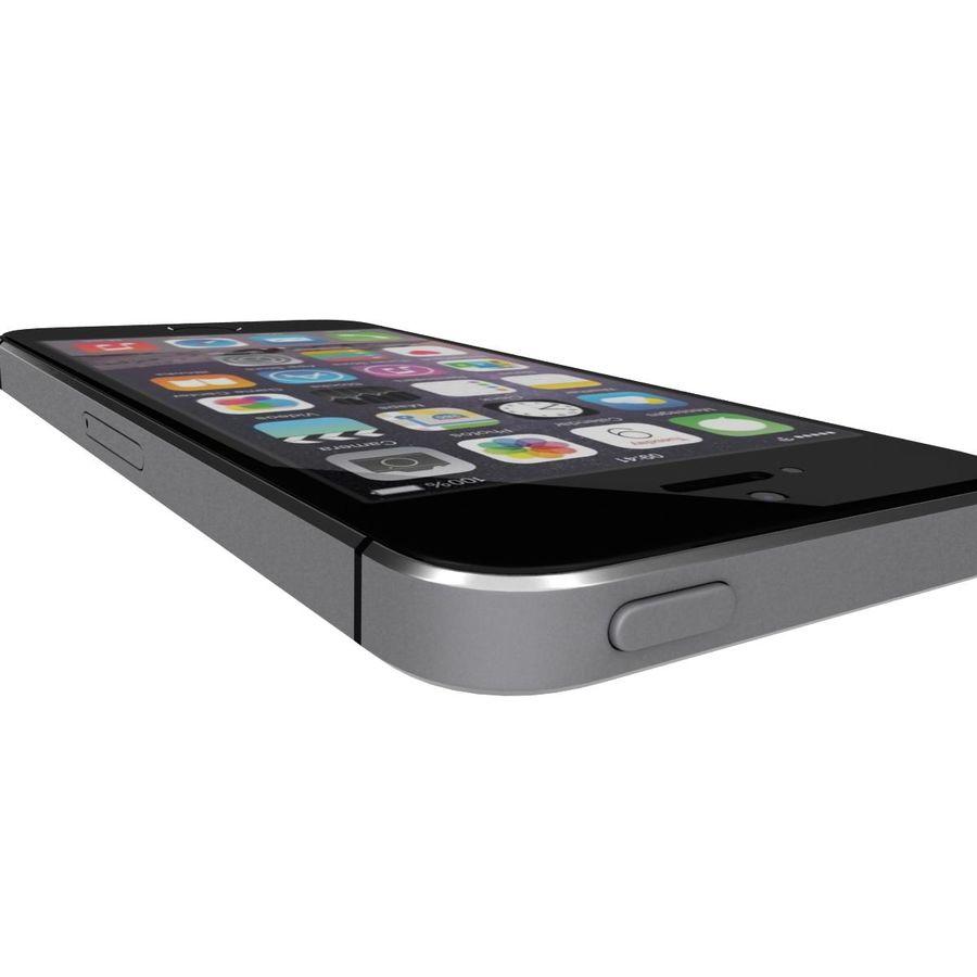 Apple iPhone SE Cinza Espaço royalty-free 3d model - Preview no. 24