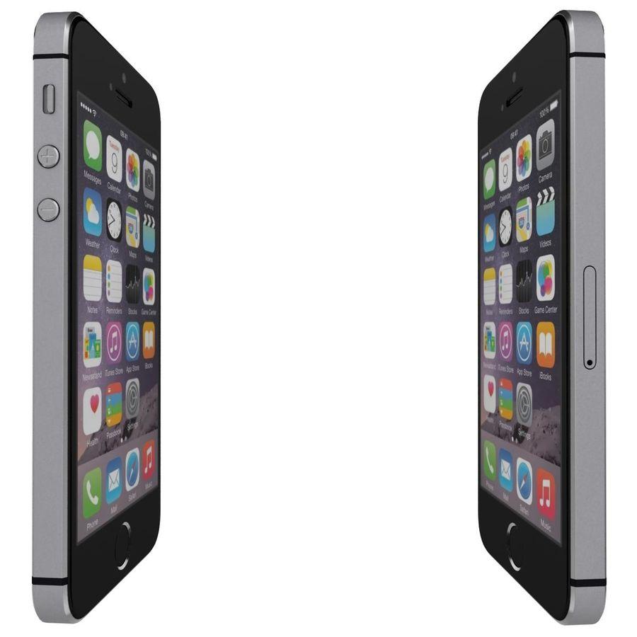 Apple iPhone SE Cinza Espaço royalty-free 3d model - Preview no. 10
