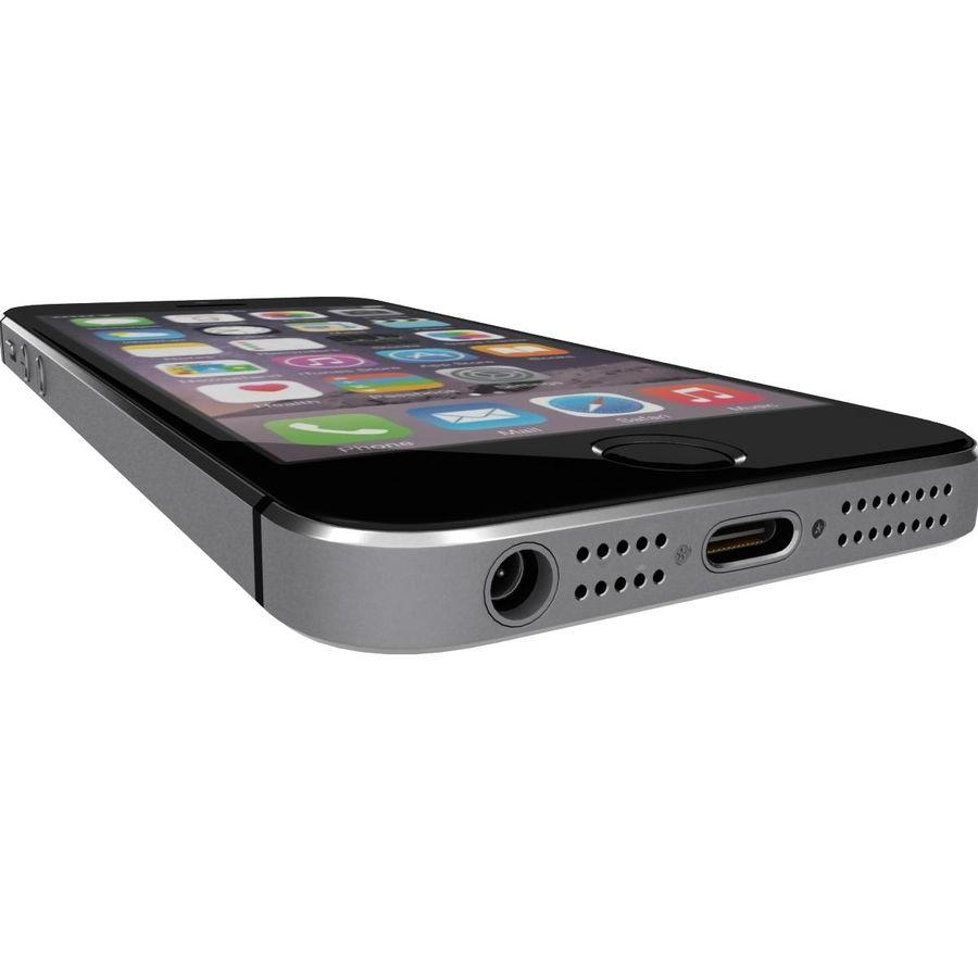 Apple iPhone SE Cinza Espaço royalty-free 3d model - Preview no. 23