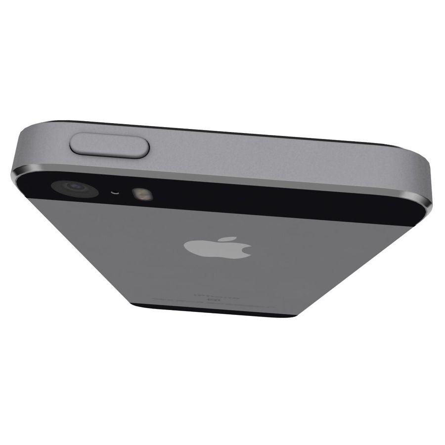 Apple iPhone SE Cinza Espaço royalty-free 3d model - Preview no. 12