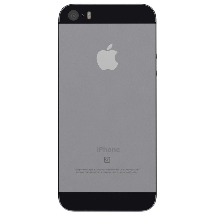 Apple iPhone SE Cinza Espaço royalty-free 3d model - Preview no. 7