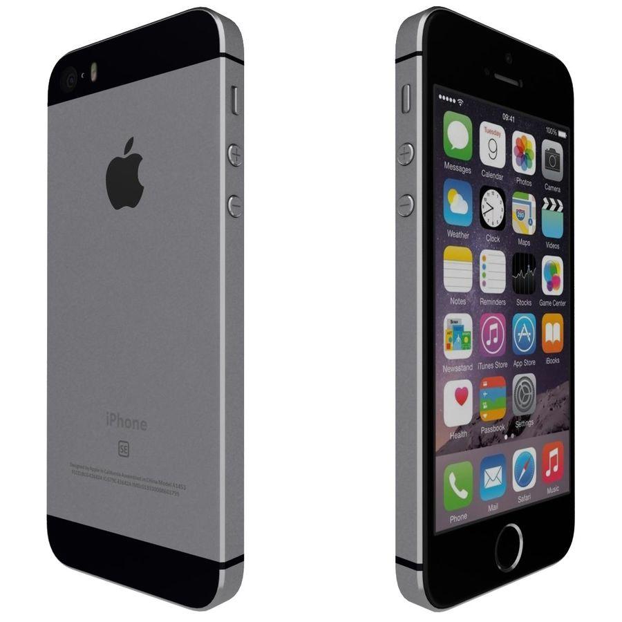 Apple iPhone SE Cinza Espaço royalty-free 3d model - Preview no. 5