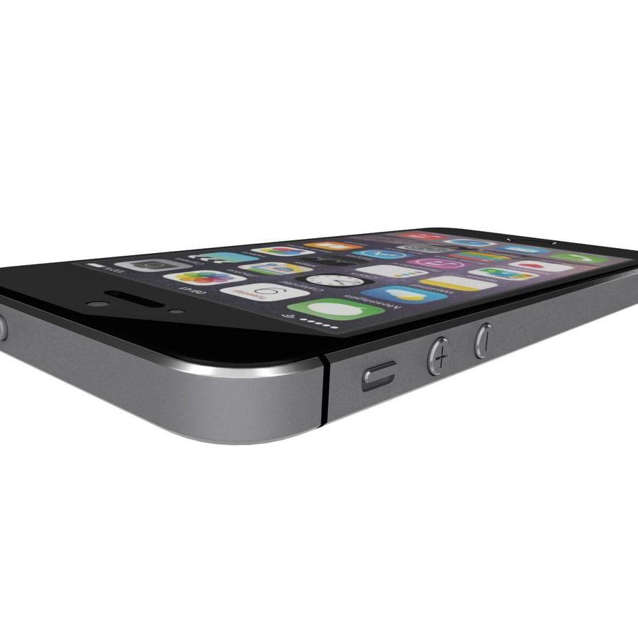 Apple iPhone SE Cinza Espaço royalty-free 3d model - Preview no. 25