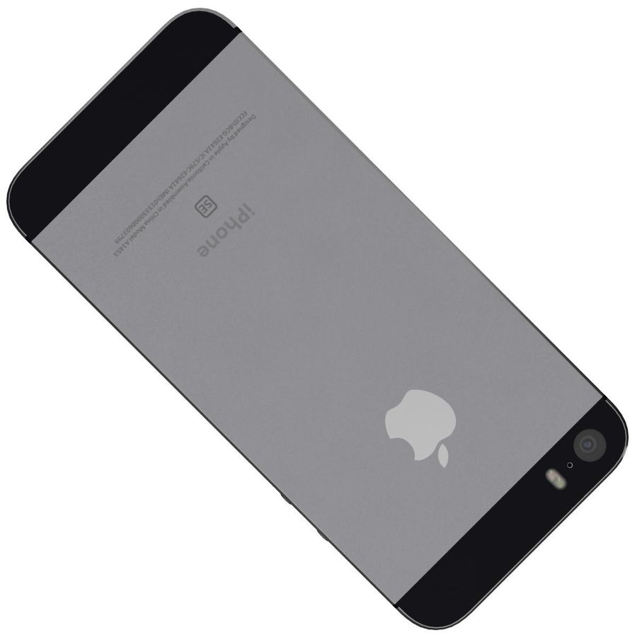 Apple iPhone SE Cinza Espaço royalty-free 3d model - Preview no. 22