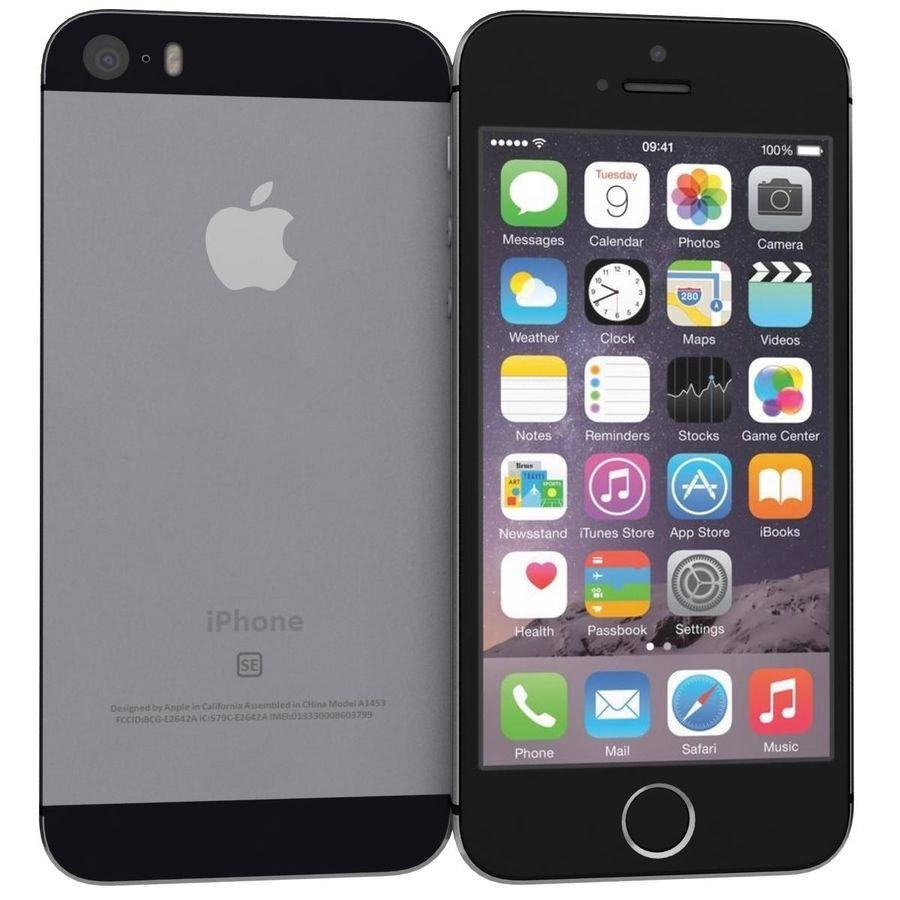 Apple iPhone SE Cinza Espaço royalty-free 3d model - Preview no. 1
