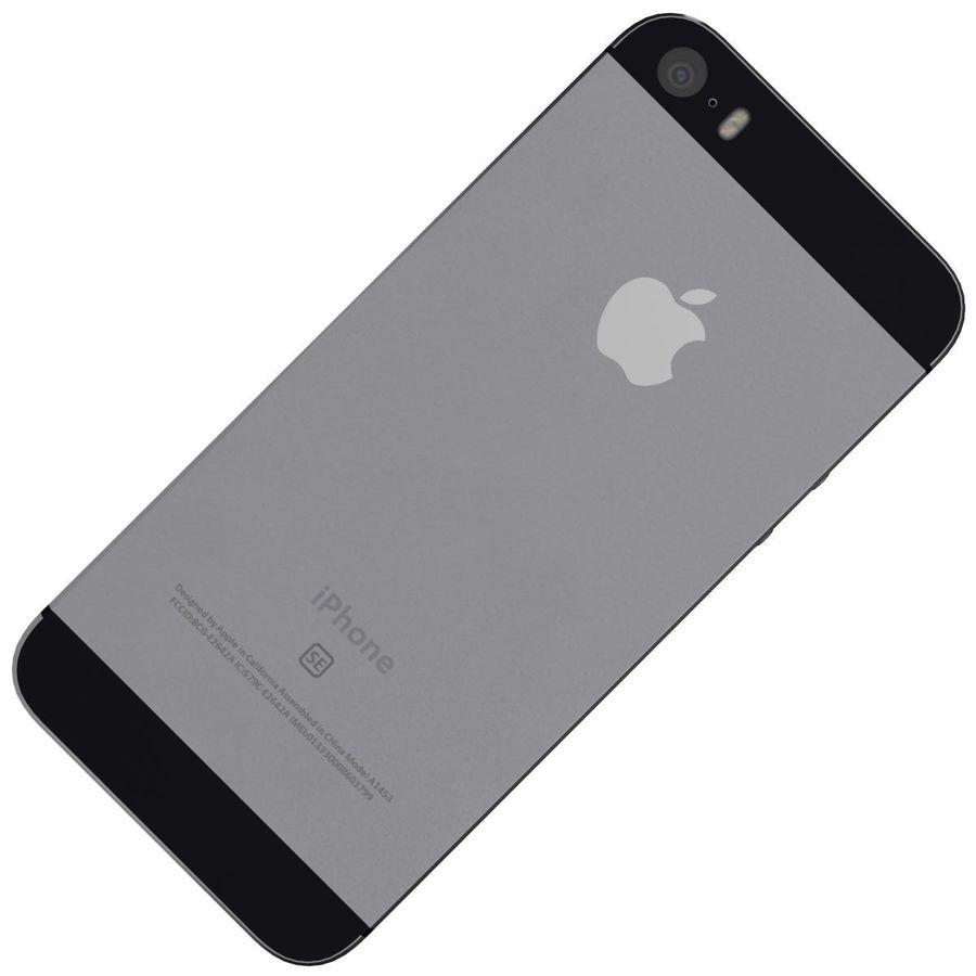 Apple iPhone SE Cinza Espaço royalty-free 3d model - Preview no. 20