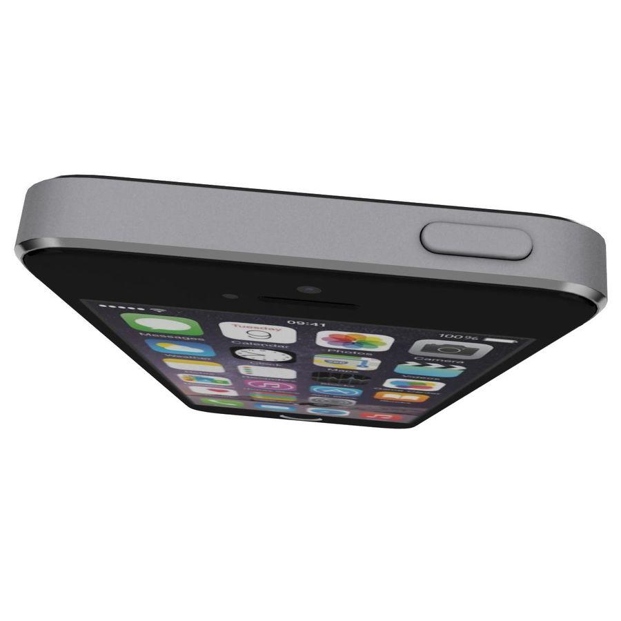 Apple iPhone SE Cinza Espaço royalty-free 3d model - Preview no. 11