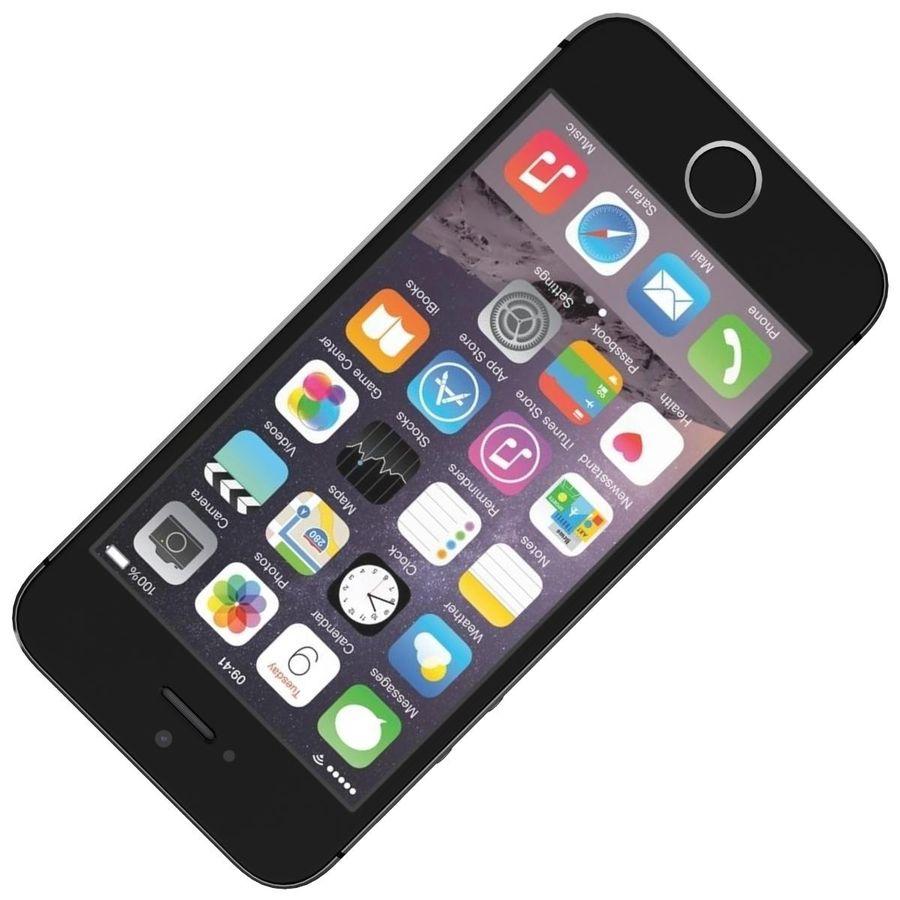 Apple iPhone SE Cinza Espaço royalty-free 3d model - Preview no. 17