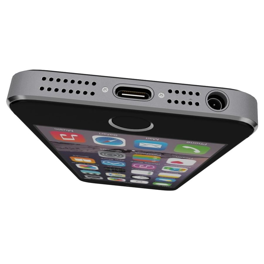 Apple iPhone SE Cinza Espaço royalty-free 3d model - Preview no. 13
