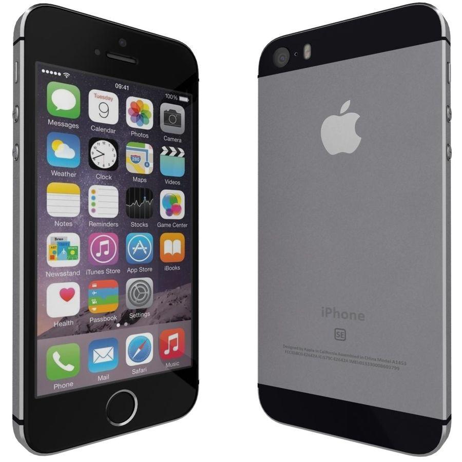 Apple iPhone SE Cinza Espaço royalty-free 3d model - Preview no. 3