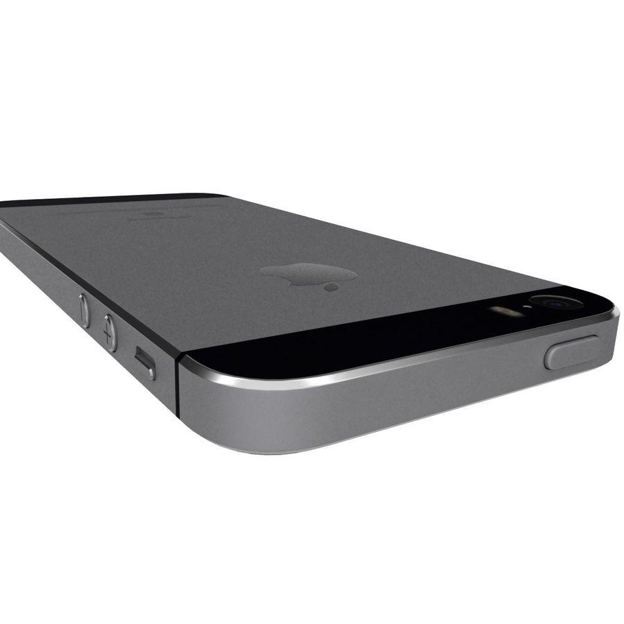 Apple iPhone SE Cinza Espaço royalty-free 3d model - Preview no. 26