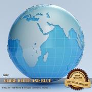 Globe Blanc et Bleu 3d model