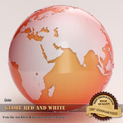 Globe red and white 3d model