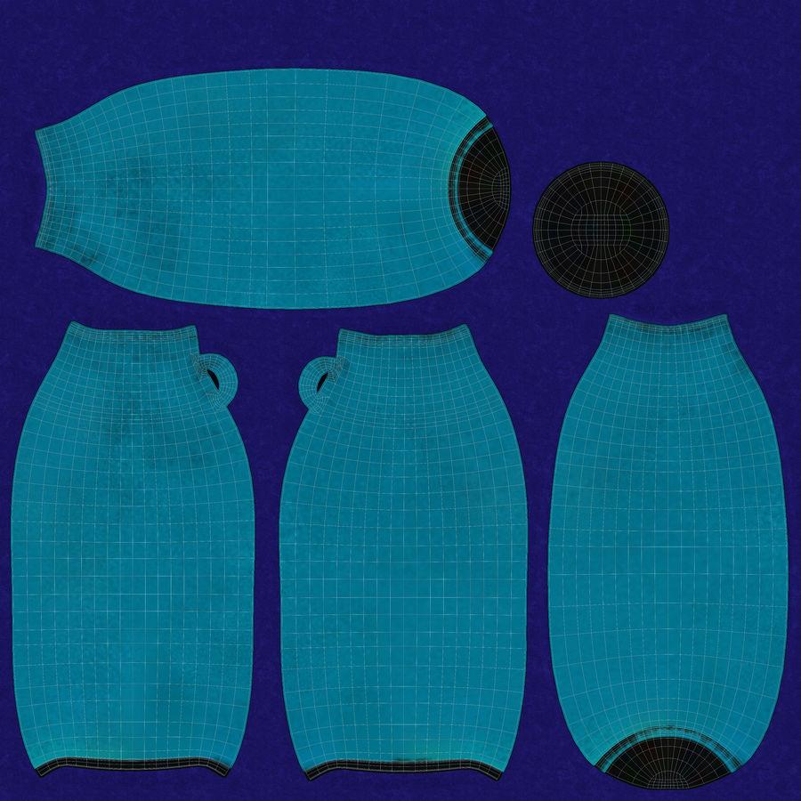 Bottle Ceramic royalty-free 3d model - Preview no. 13