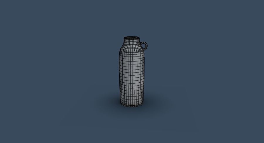 Bottle Ceramic royalty-free 3d model - Preview no. 12