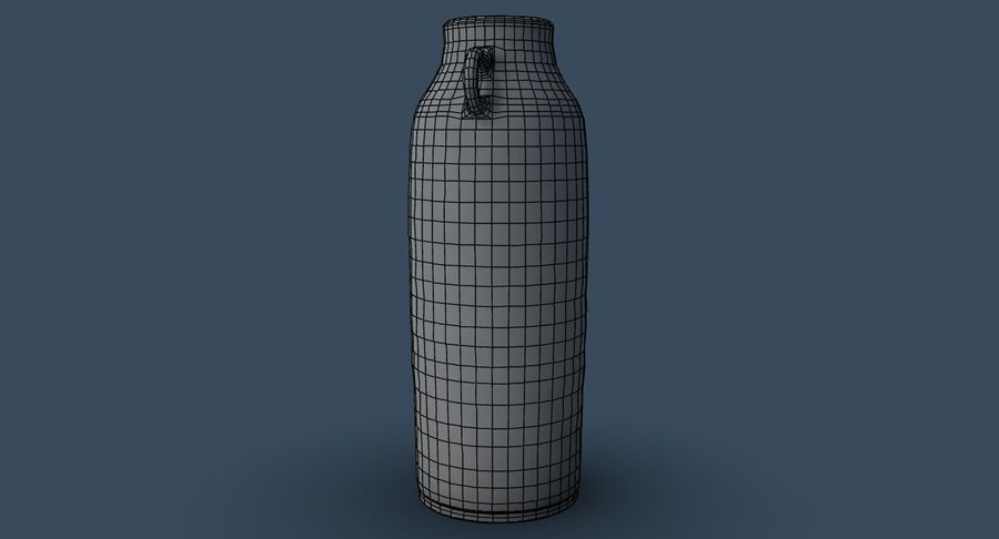 Bottle Ceramic royalty-free 3d model - Preview no. 9