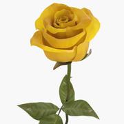 Желтая роза 3d model