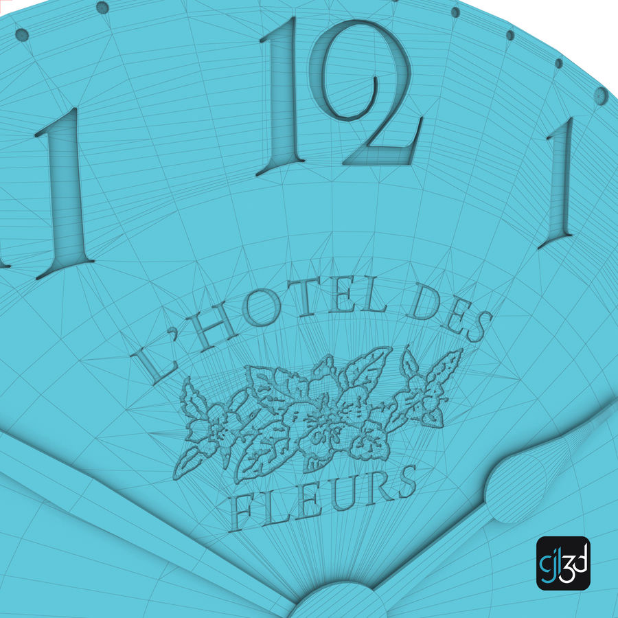 Wall Clock royalty-free 3d model - Preview no. 13