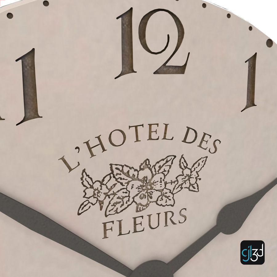 Wall Clock royalty-free 3d model - Preview no. 11