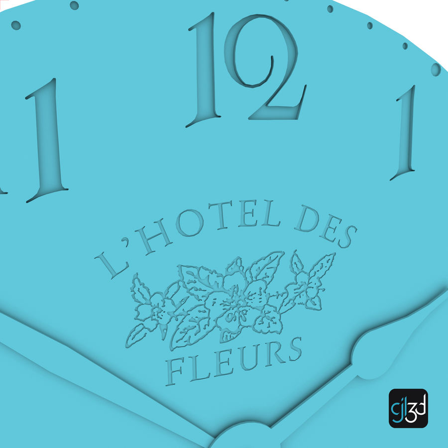 Wall Clock royalty-free 3d model - Preview no. 12