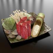 23_Vegetable_Pork_Seafood 3d model