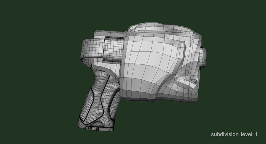 BERETTA PX4 Storm met Holster Zbrush Sculpt royalty-free 3d model - Preview no. 21