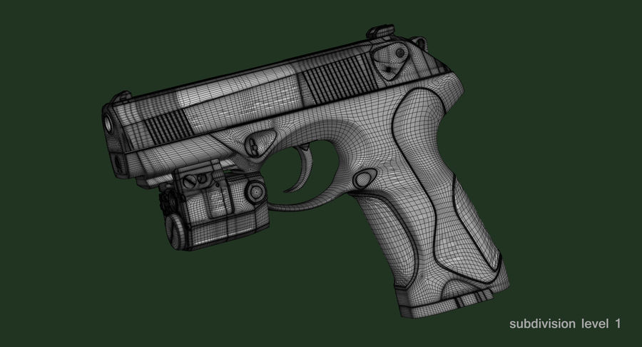 BERETTA PX4 Storm met Holster Zbrush Sculpt royalty-free 3d model - Preview no. 25