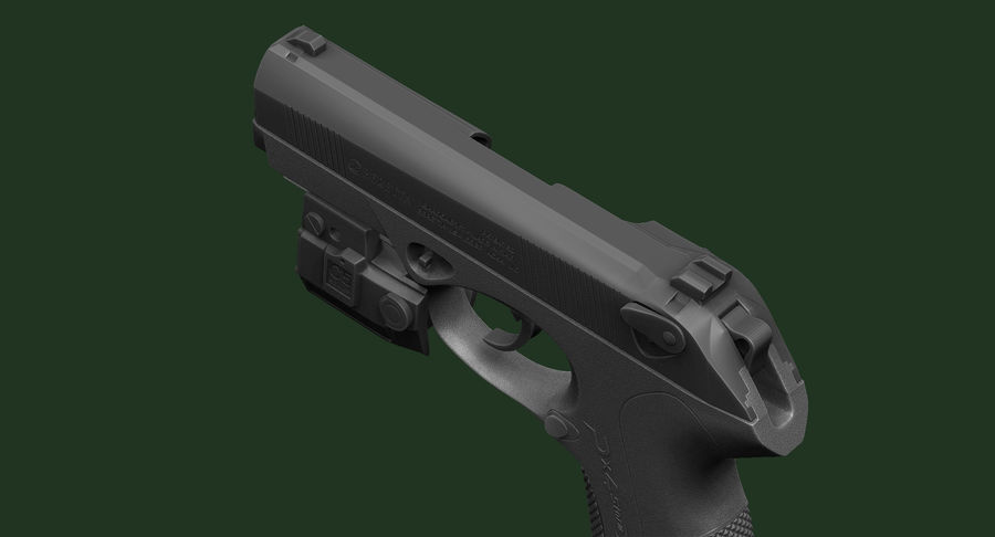BERETTA PX4 Storm met Holster Zbrush Sculpt royalty-free 3d model - Preview no. 14