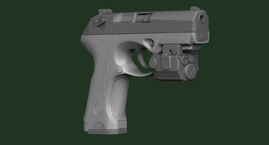 BERETTA PX4 Storm met Holster Zbrush Sculpt royalty-free 3d model - Preview no. 9
