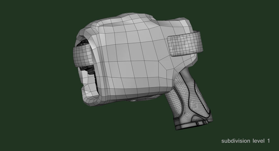 BERETTA PX4 Storm met Holster Zbrush Sculpt royalty-free 3d model - Preview no. 22