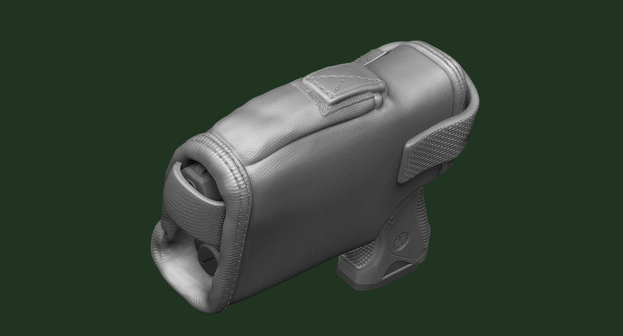 BERETTA PX4 Storm met Holster Zbrush Sculpt royalty-free 3d model - Preview no. 7
