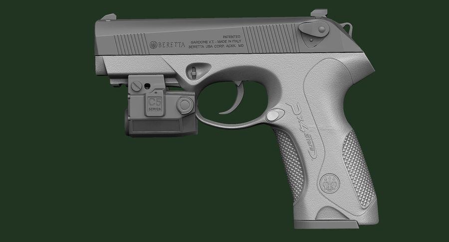 BERETTA PX4 Storm met Holster Zbrush Sculpt royalty-free 3d model - Preview no. 11