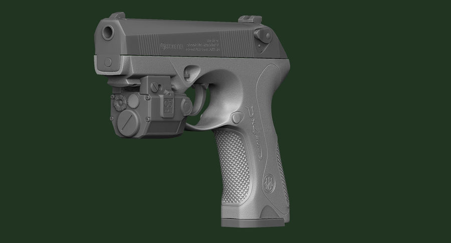 BERETTA PX4 Storm met Holster Zbrush Sculpt royalty-free 3d model - Preview no. 10