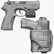 BESTERTA PX4 Storm with Holster Zbrush Sculpt 3d model