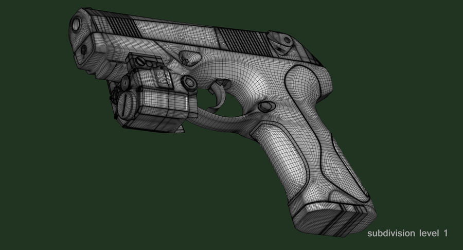 BERETTA PX4 Storm met Holster Zbrush Sculpt royalty-free 3d model - Preview no. 26