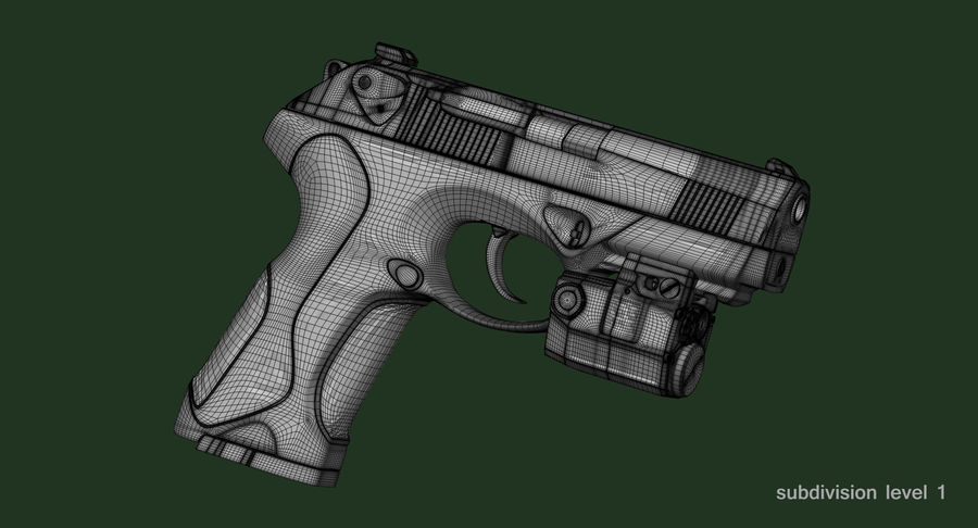 BERETTA PX4 Storm met Holster Zbrush Sculpt royalty-free 3d model - Preview no. 24