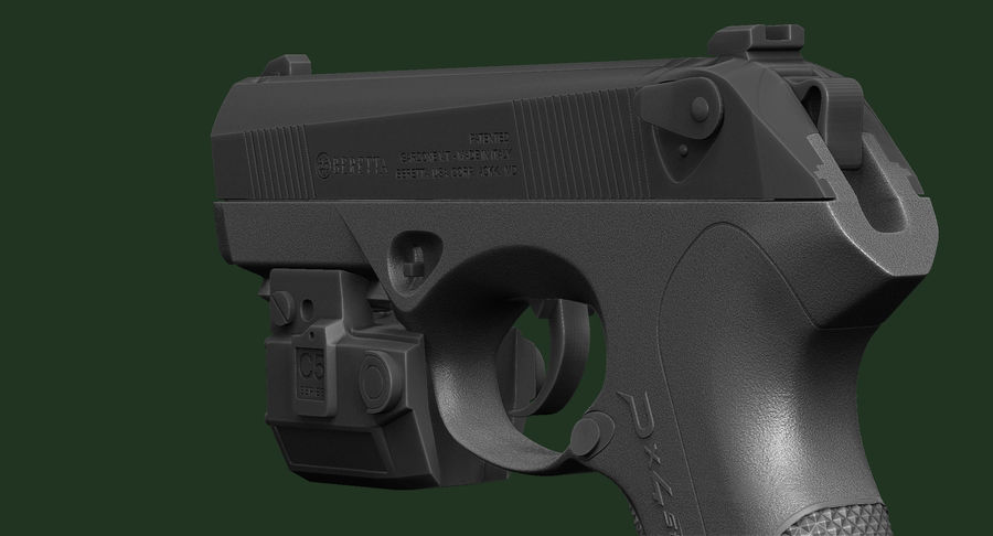 BERETTA PX4 Storm met Holster Zbrush Sculpt royalty-free 3d model - Preview no. 13
